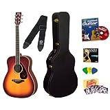 Yamaha FG720S Brown Sunburst Folk Acoustic Guitar Bundle with Yamaha Hard Case, Instructional DVD, Picks, Strap...