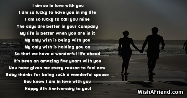 I Am So In Love With You 5th Anniversary Poem
