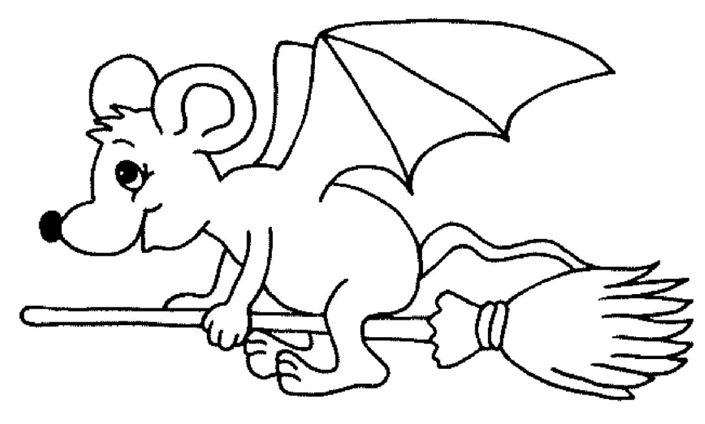 Ausmalbild Fledermaus kostenlos 1