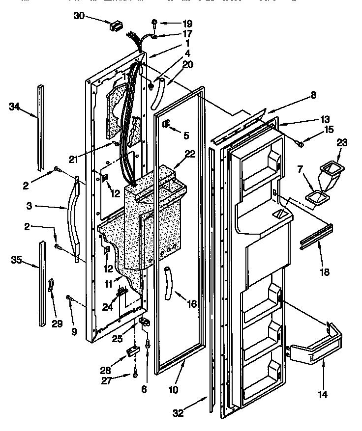 Kenmore Elite Refrigerator Diagram