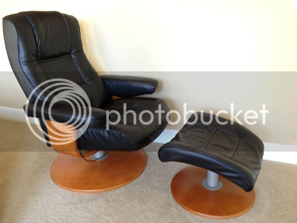 Sam S Barter List Chairworks Black Leather Recliner
