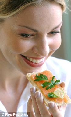 Brain boost: Eating oily fish has been linked to a slower decline in brain mass among pensioners