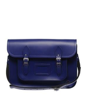 Image 1 ofCambridge Satchel Company Exclusive To ASOS Leather Plum Satchel