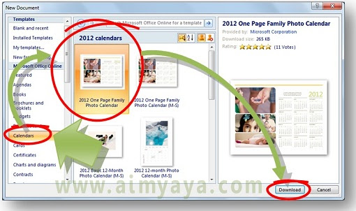 Gambar: Cara membuat kalender di Microsoft Word