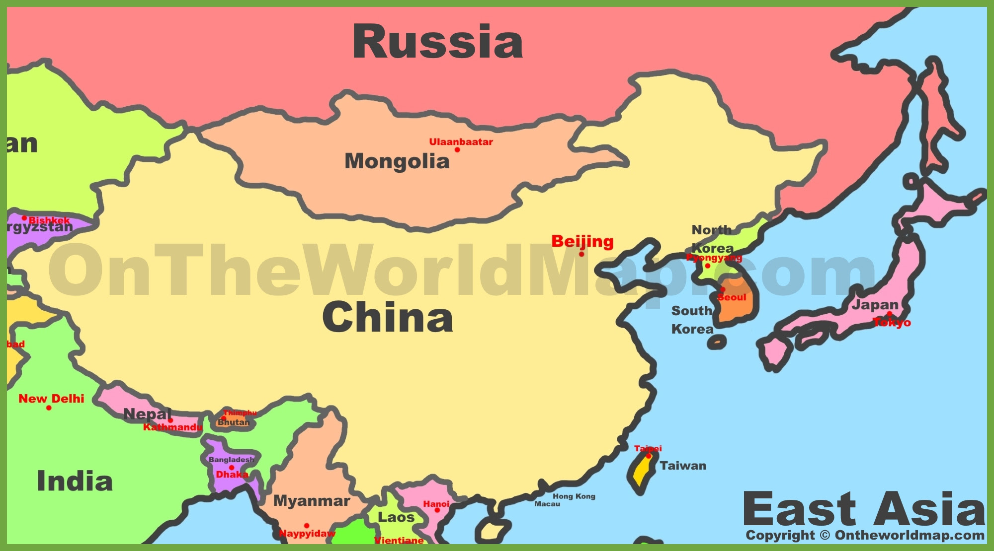 Picture of: Map Of East Asia