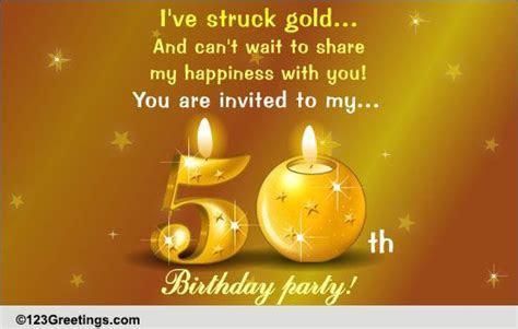 50th Birthday Celebration! Free Birthday Party eCards