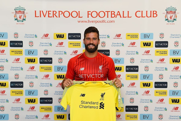 195fdce129a Liverpool seal deal for Alisson in world-record goalkeeper transfer