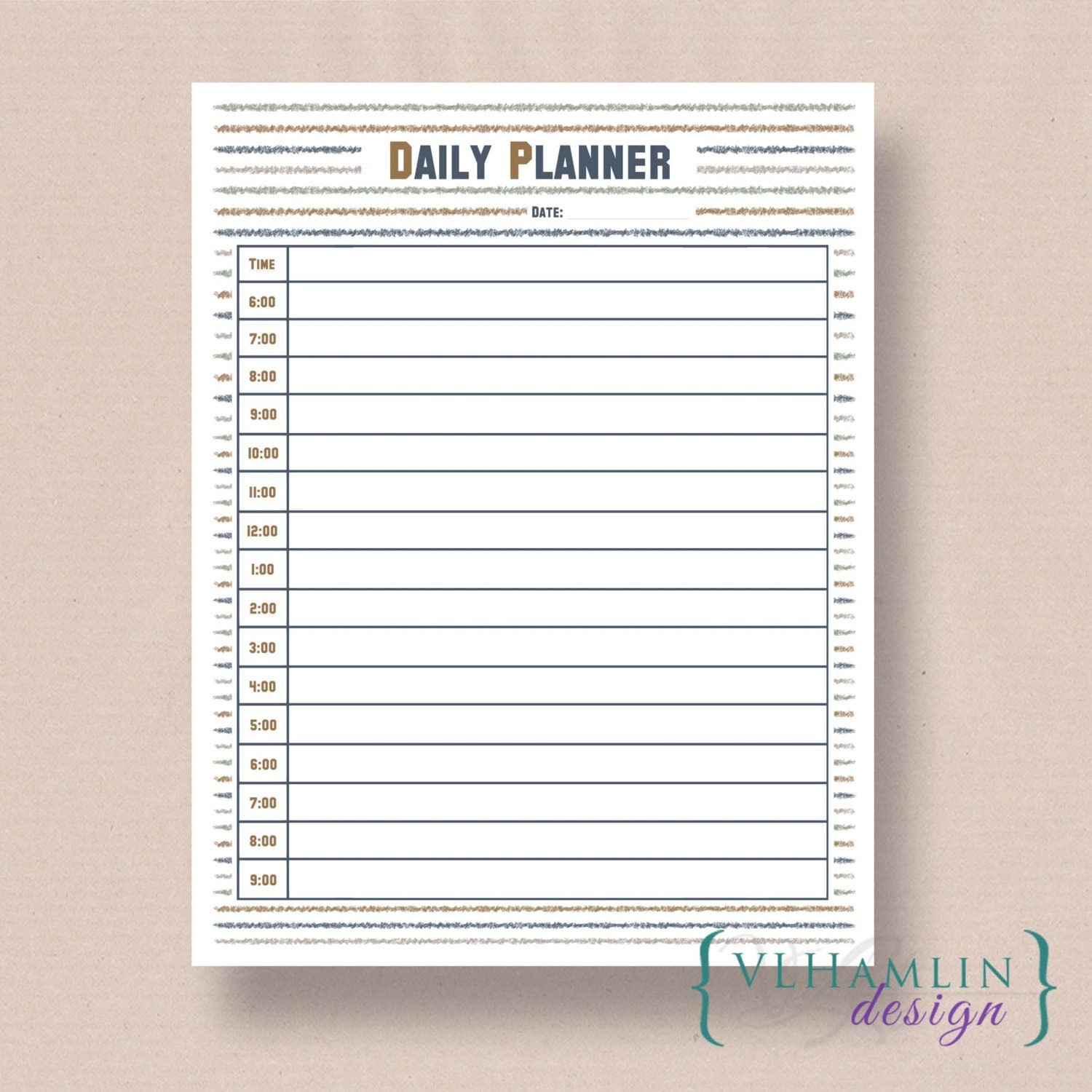 SALE Daily Planner Printable Daily Planner Meal Planner | Etsy