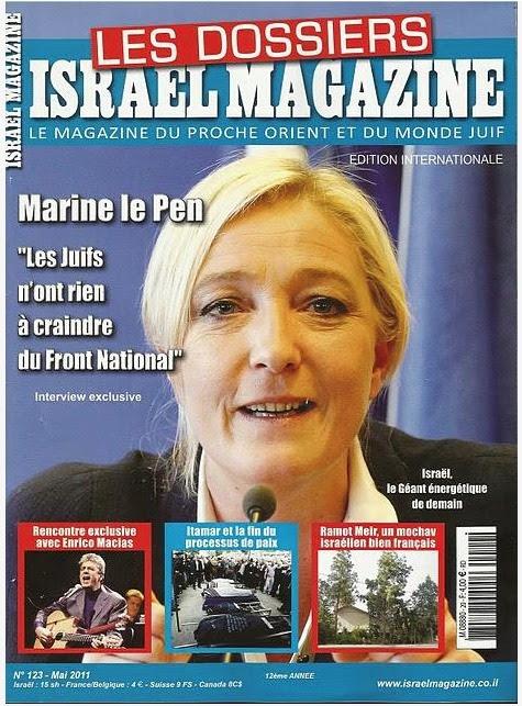 """Marine le Pen dice ai media israeliani che il Fronte Nazionale è come uno """"scudo"""" che protegge gli ebrei francesi"""