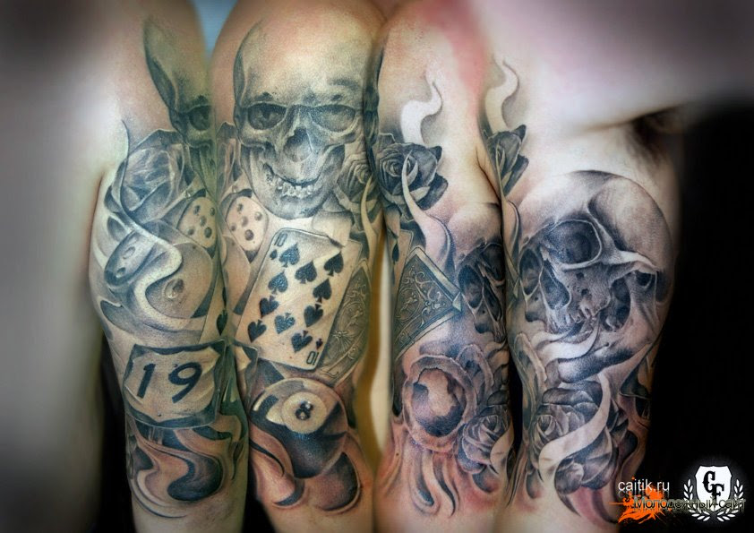 Skull Poker Tattoo Comparisonpaincf