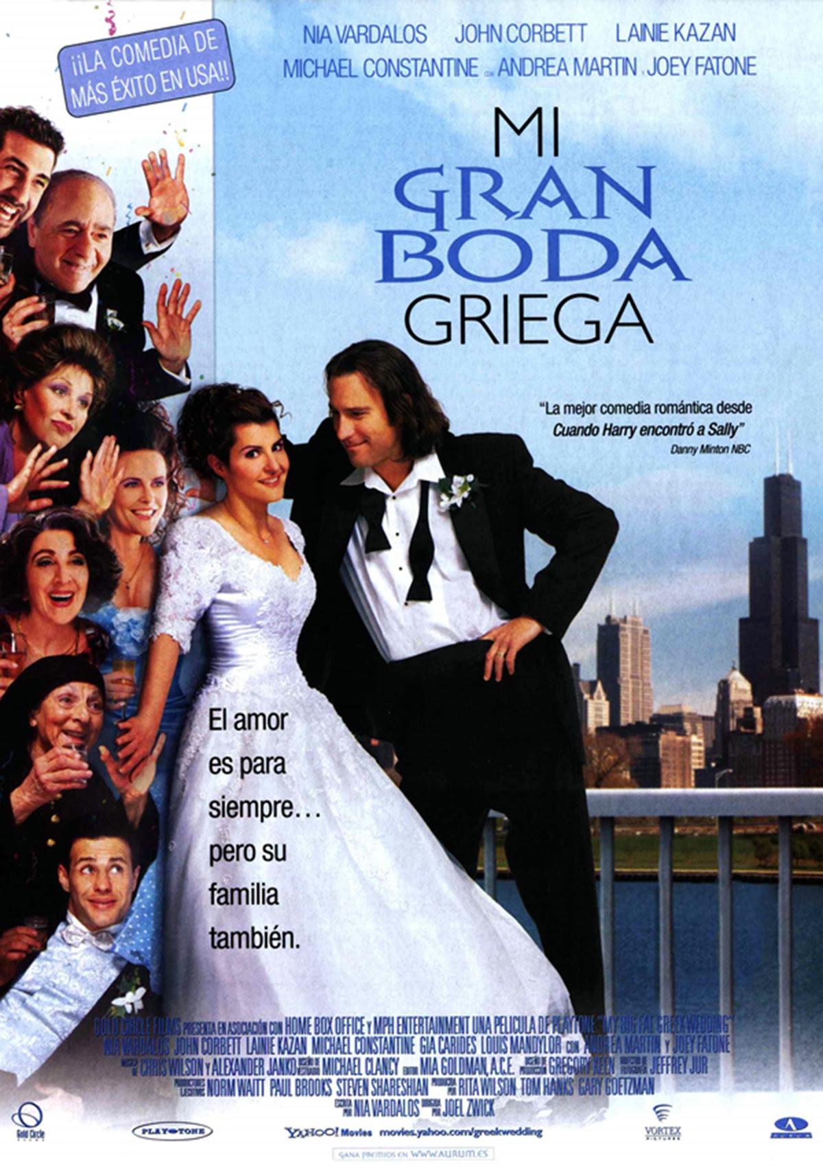 póster mi gran boda griega