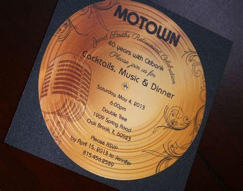 Gold Record Motown Retirement Invitation   Too Chic