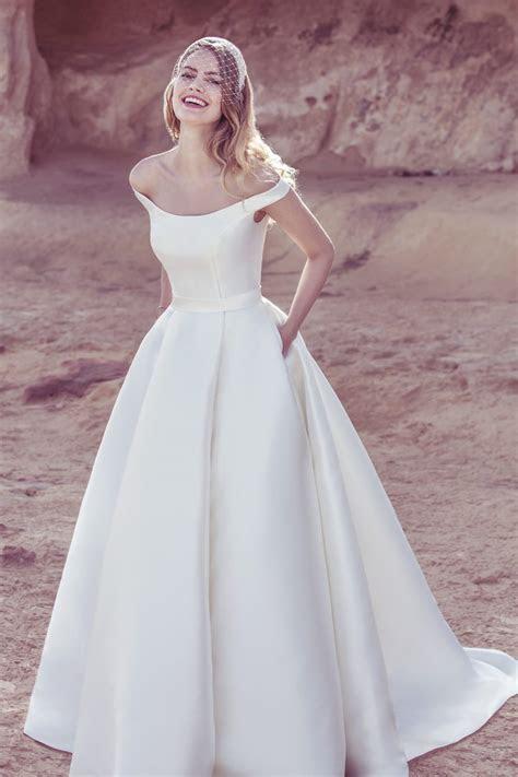 Off the Shoulder Wedding Dress Ballgown   Ellis Bridals