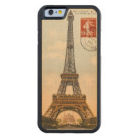 Vintage Eiffel Tower Carved Wooden iPhone 6 Case Carved® Maple iPhone 6 Bumper Case