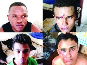 Quatro pessoas foram presas com armas e dinamites (Foto: Reprodução)