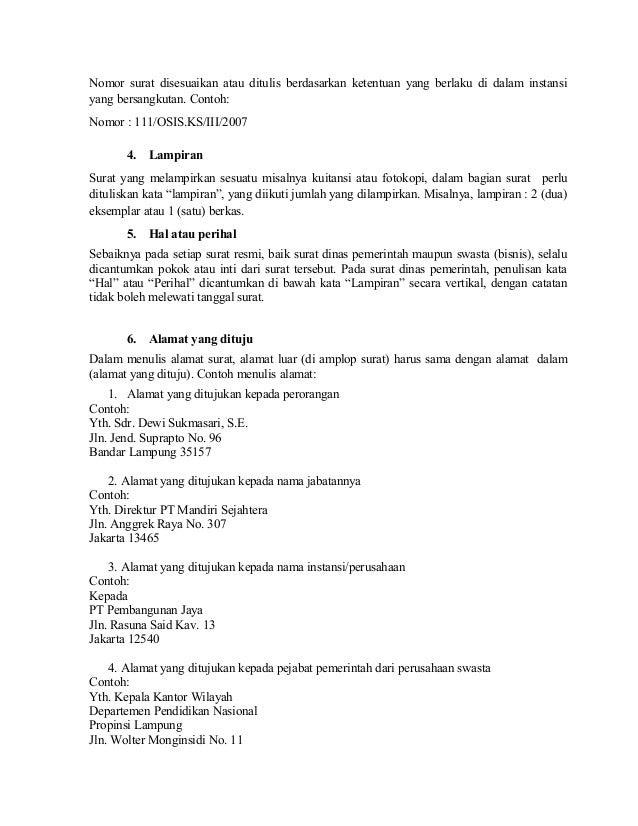 Surat Menyurat Resmi Dalam Bahasa Inggris - Pijaten