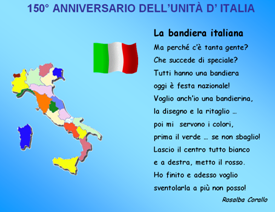 Festa Unità Ditalia Lavoretti Poesie Canzoni Disegni