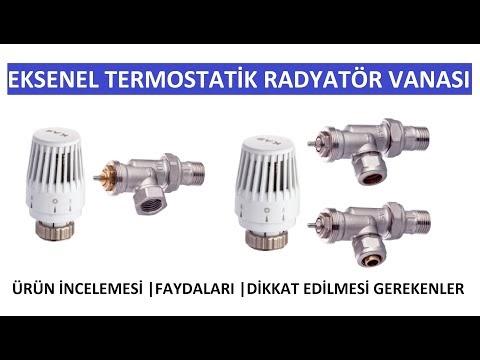 Eksenel Termostatik Radyatör Vanası Ürün İncelemesi