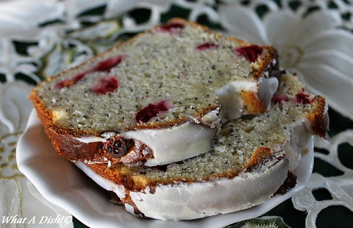 Cranberry Poppyseed Almond Bread