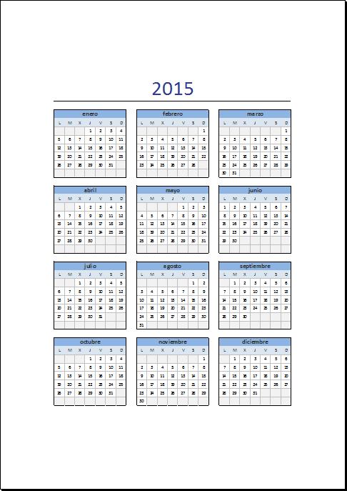 1000 ideias sobre Calendario 2015 Excel no Pinterest | Calendario ...