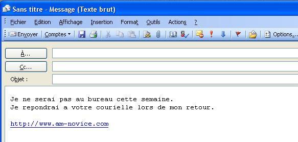 Exemple De Message D Absence Mail - Exemple de Groupes