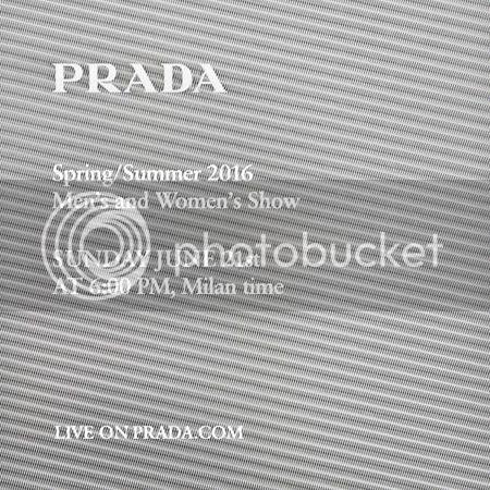 Prada Menswear & Womenswear Spring Summer 2016 Show livestream