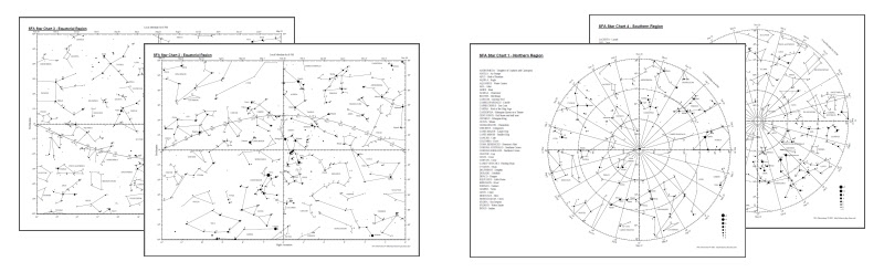 Star Map Pdf | Time Zones Map