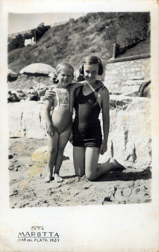 By the sea - two young girls
