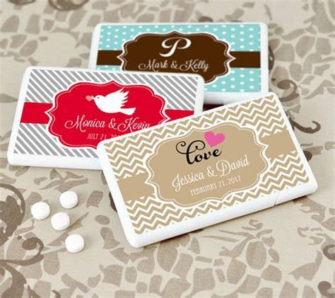Personalized Wedding Mini Mint Favors   Wedding Favors
