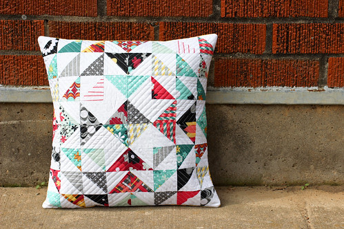 Nordika Half-Square Triangle Pillow by Jeni Baker