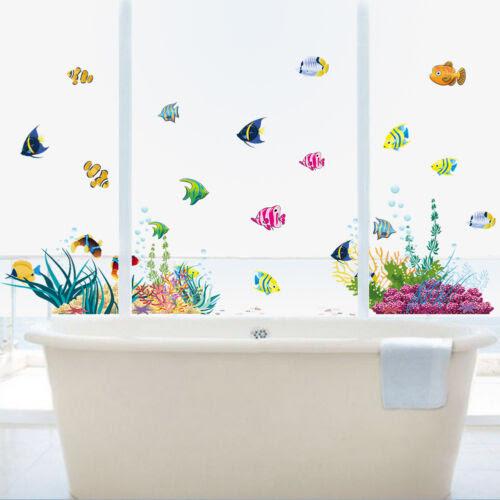 Dekoration Wandtattoo Wandsticker Fische Wandbild Badezimmer Aquarium Meer Meerestiere 139 Mobel Wohnen Elin Pens Ac Id