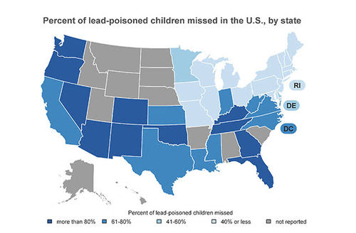 A Hidden Problem: Lead-Poisoned Children in the United States. April 2017. Available online at www.cehtp.org/hiddenlead.