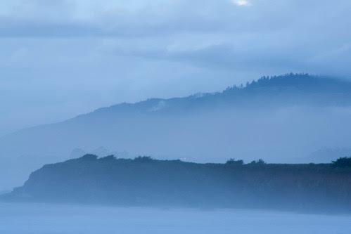 Misty hills in Big Sur