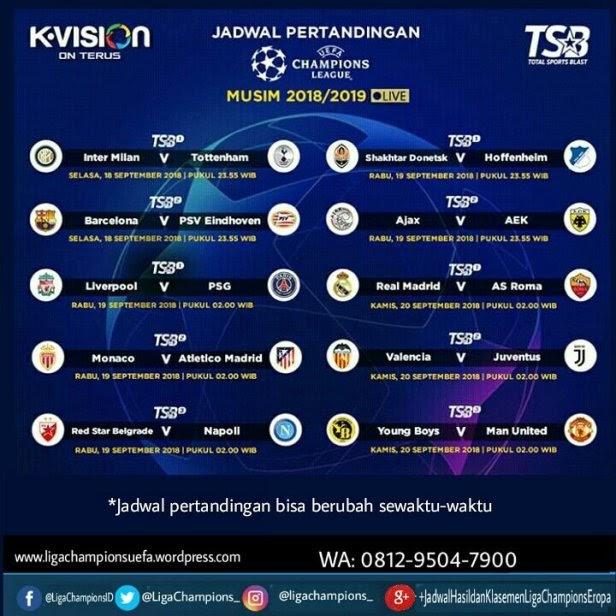 Jadwal Liga Champion Eropa : Jadwal Lengkap Pertandingan ...
