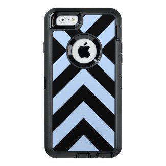 Protective Light Blue and Black Chevrons OtterBox iPhone 6/6s Case