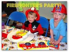 Great 3 Year Old Birthday Party Idea: A Firefighter's Party!