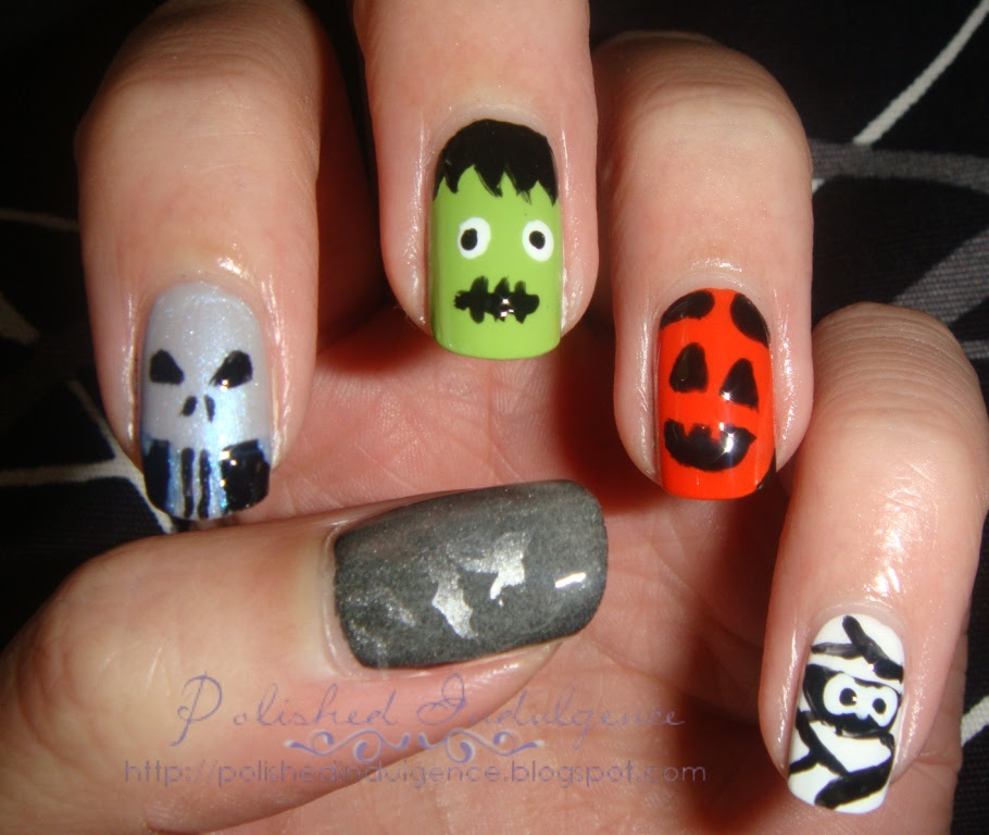 Polished Indulgence: Nail Art Wednesday: Halloween Nails ...