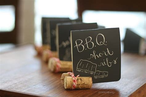 Corks can make great place card or mini food sign holders