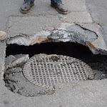 Dunkerque - Un morceau de route s'est effondré à Petite-Synthe