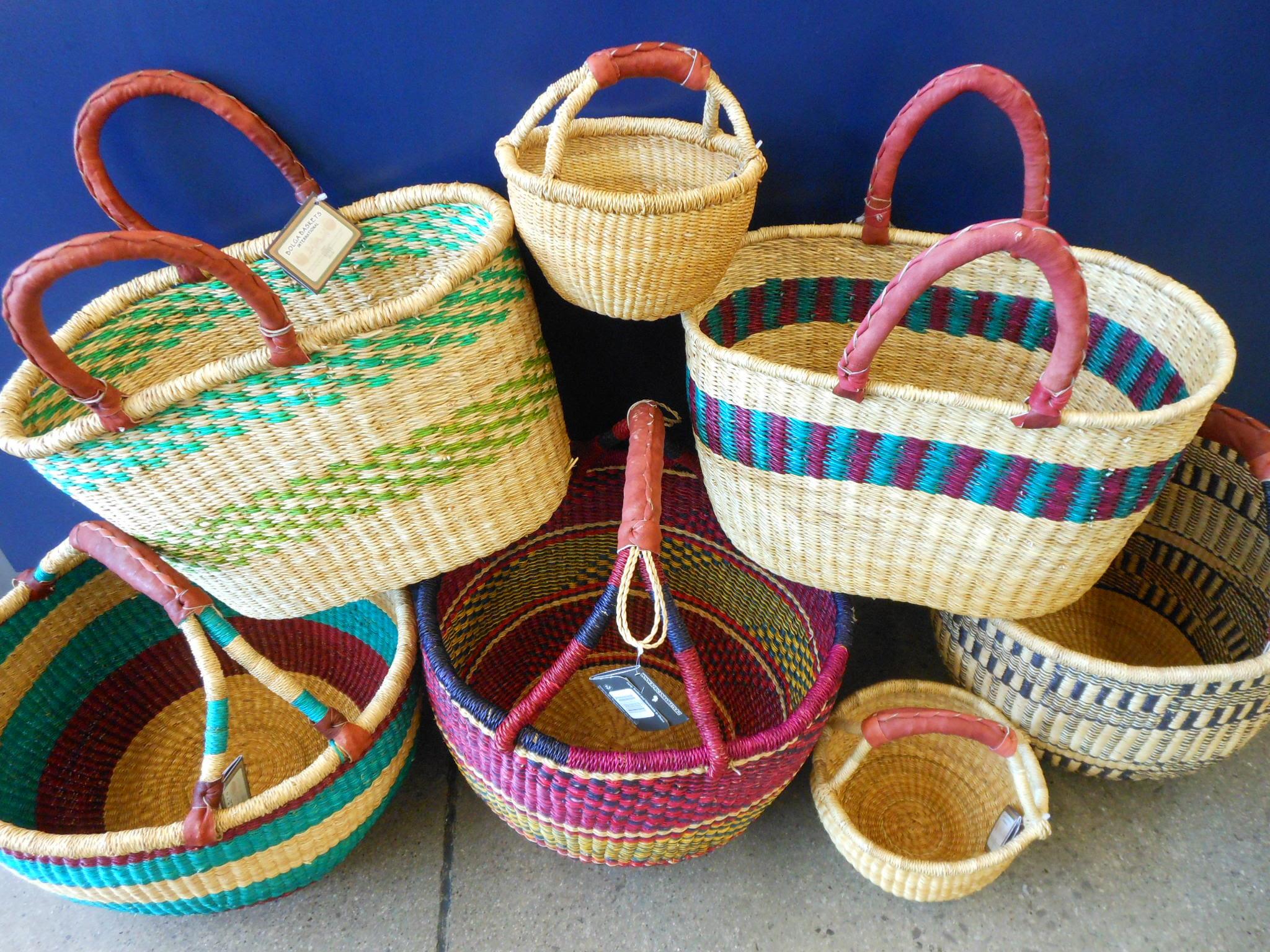 Handmade Ghana Baskets : Frafra gurune people the hardworking agrarian basket