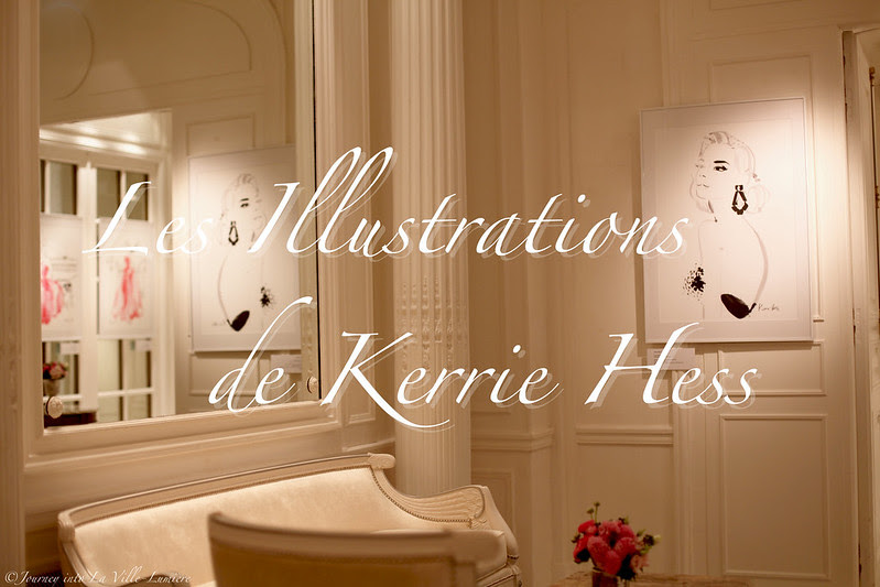 Kerrie Hess Illustration, Le Meurice Hotel, Paris