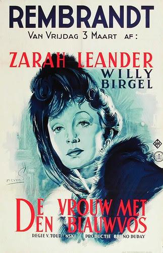 Vrouw met den blauwvos, 1938