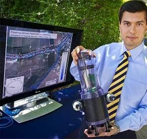 Robôs flutuantes ganham celular para monitorar rios
