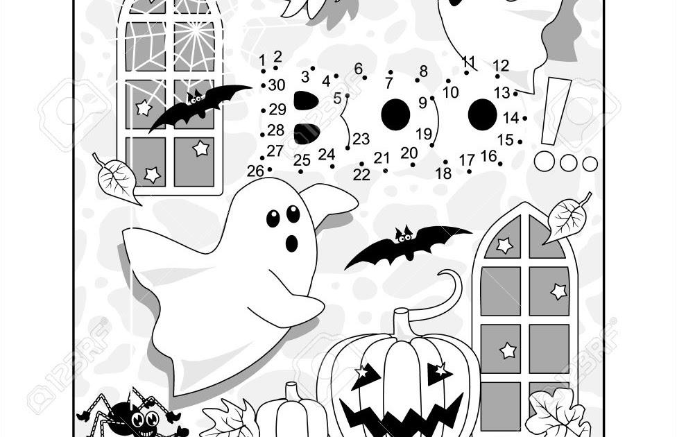 halloween gespenst malvorlagen