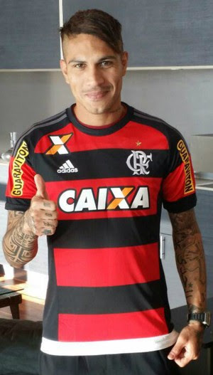 Guerrero camisa do Flamengo (Foto: Reprodução/ Twitter)