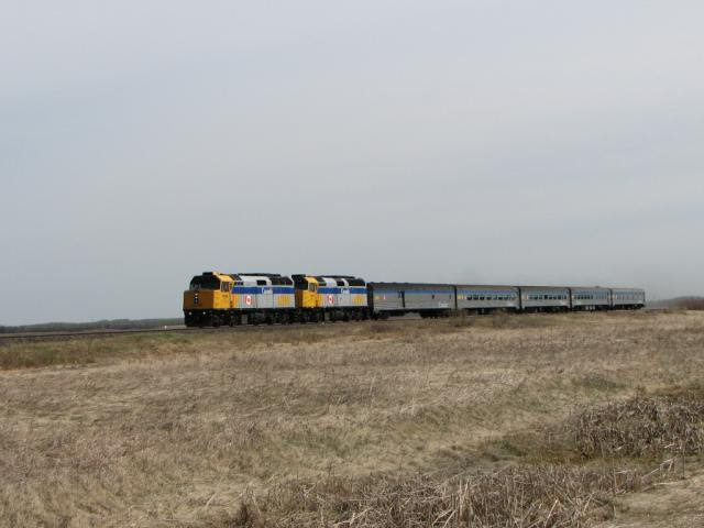 VIA 6458 and the Hudson Bay train