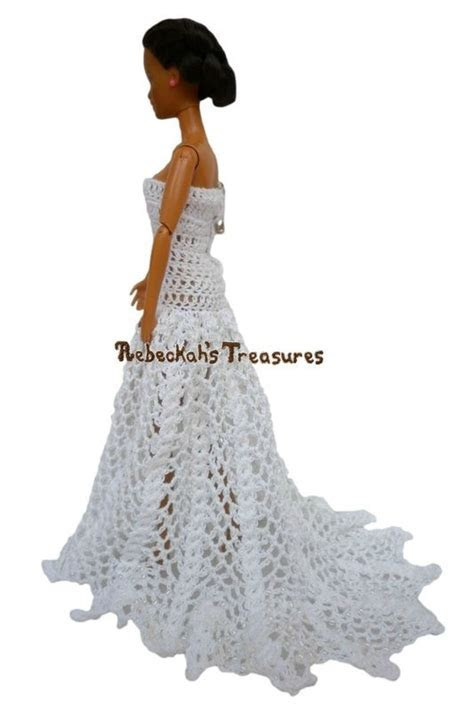 Straight Across, Strapless A Line Barbie Wedding Dress