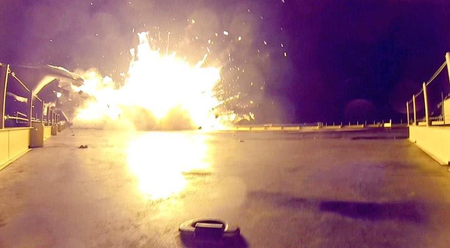Falcon 9 landing exposion