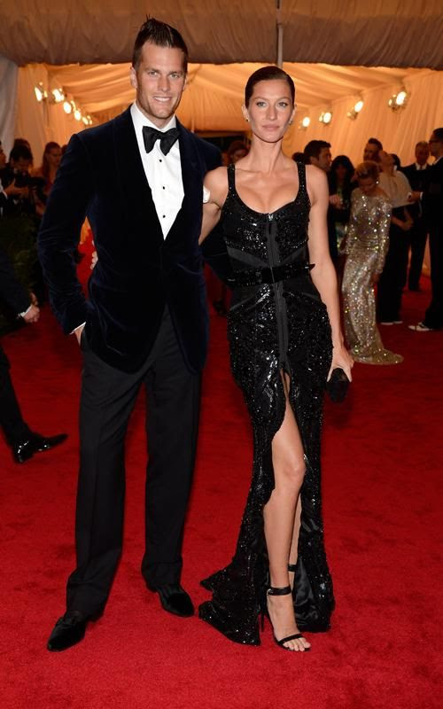 Costume Institute Gala Met Ball - May 7, 2012, Tom Brady, Gisele Bundchen