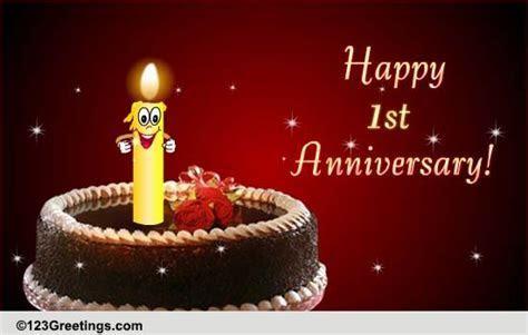 1st Anniversary Wishes! Free Milestones eCards, Greeting